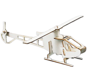 "3D-Steckmodell ""Helikopter Light"""